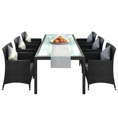 Garden Furniture Dining Set Nizza In Black