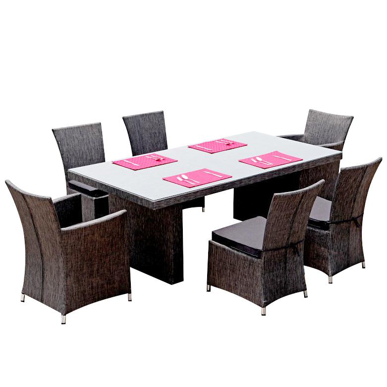 gartenm bel esstisch dining table rattan garten. Black Bedroom Furniture Sets. Home Design Ideas