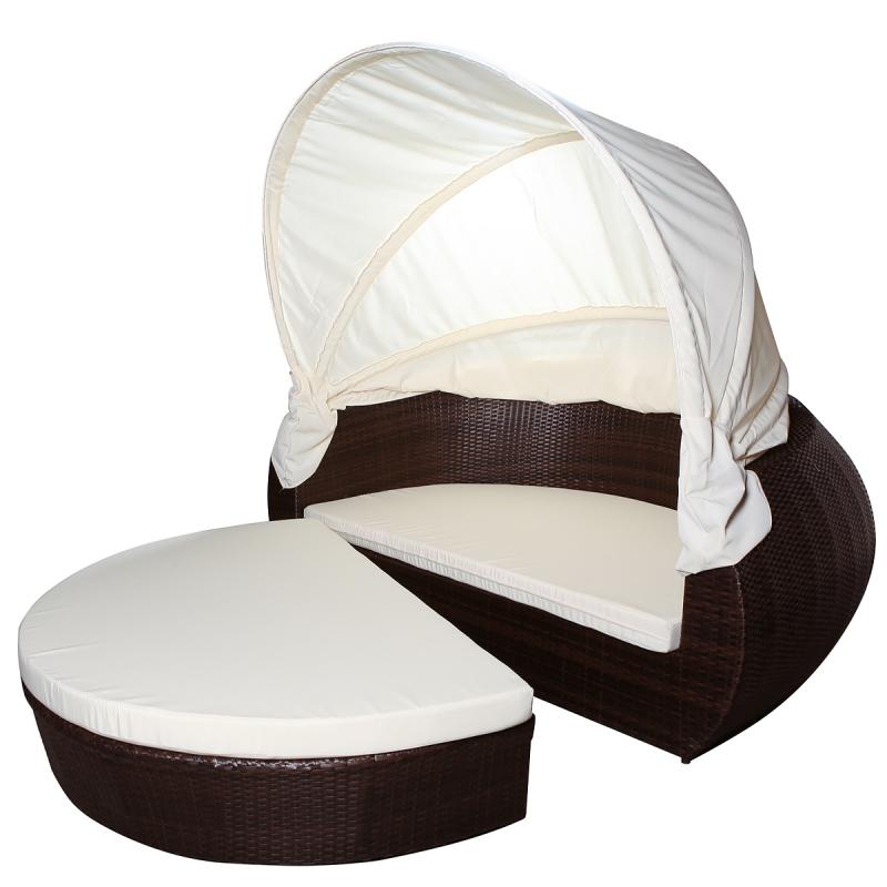 rattan lounge muschel, garten,liege,bed,sonnen,insel,jet-line - gartenmoebel - polyrattan, Design ideen