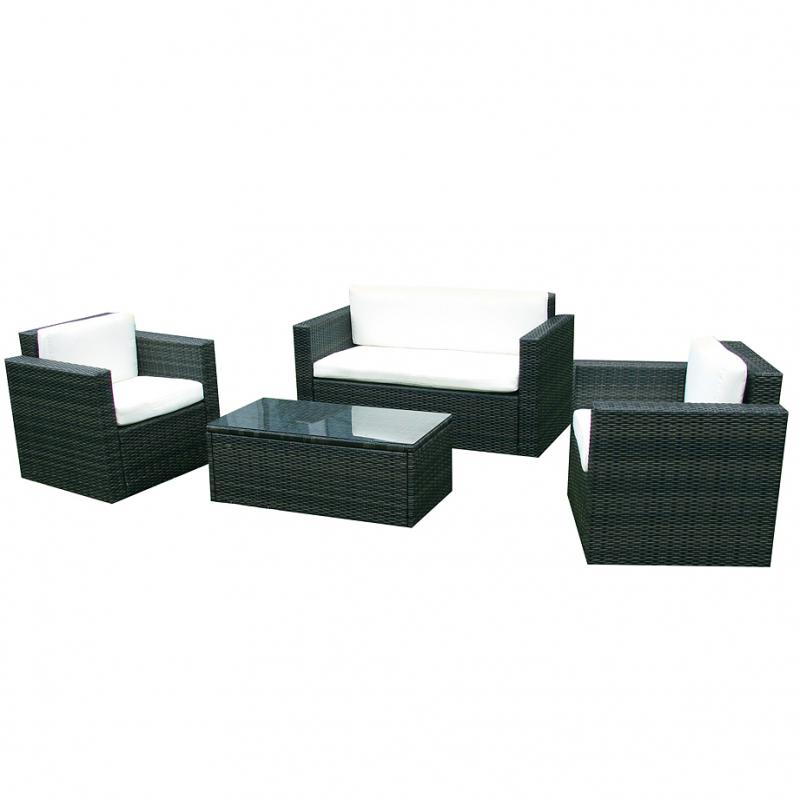 Rattan lounge schwarz  Rattan, Gartenset, Lounge, Rattangruppe - Jet-Line Gartenmoebel ...