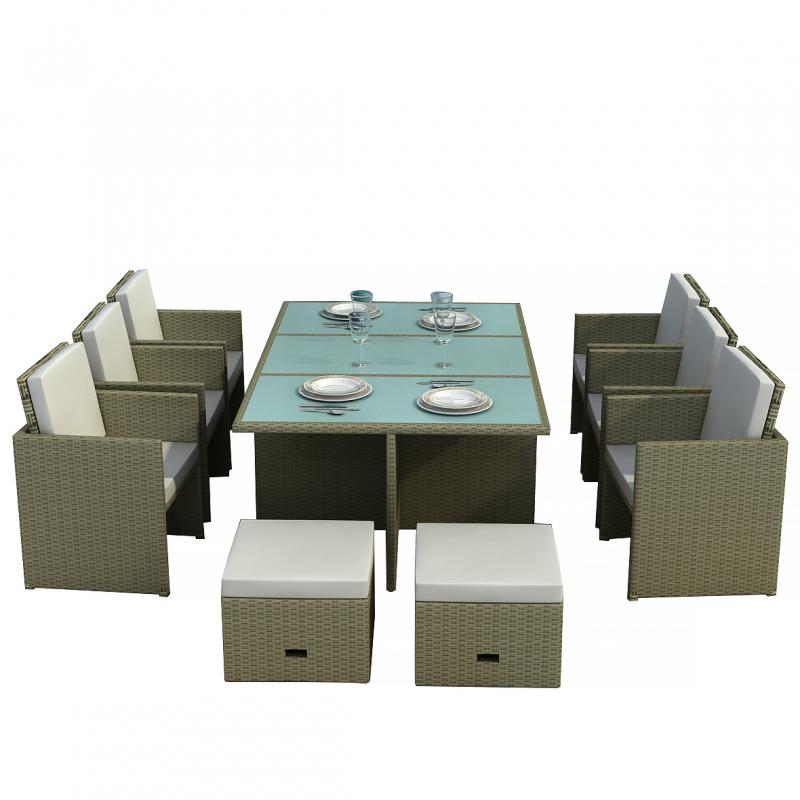 Essgruppe,Sitzgruppe,Gartenmöbel, Polyrattan - Gartenmoebel ...