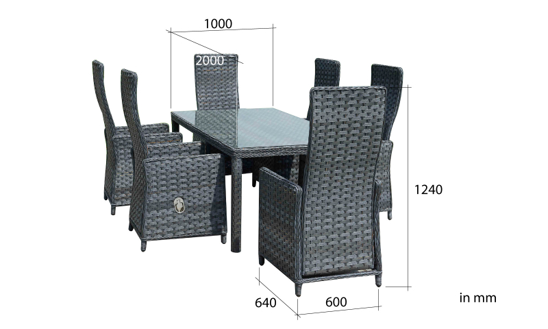gartenm bel rattan essgruppe von jet line gartenmoebel. Black Bedroom Furniture Sets. Home Design Ideas