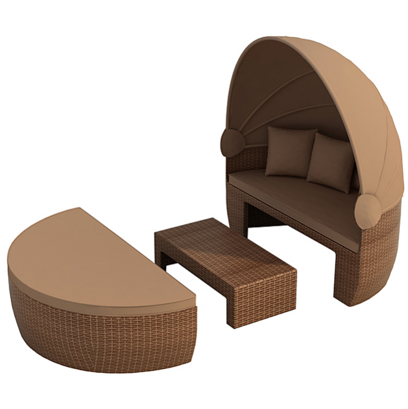 sonneninsel rattan polyrattan liege gartenmoebel polyrattan und holz m bel von jet line. Black Bedroom Furniture Sets. Home Design Ideas