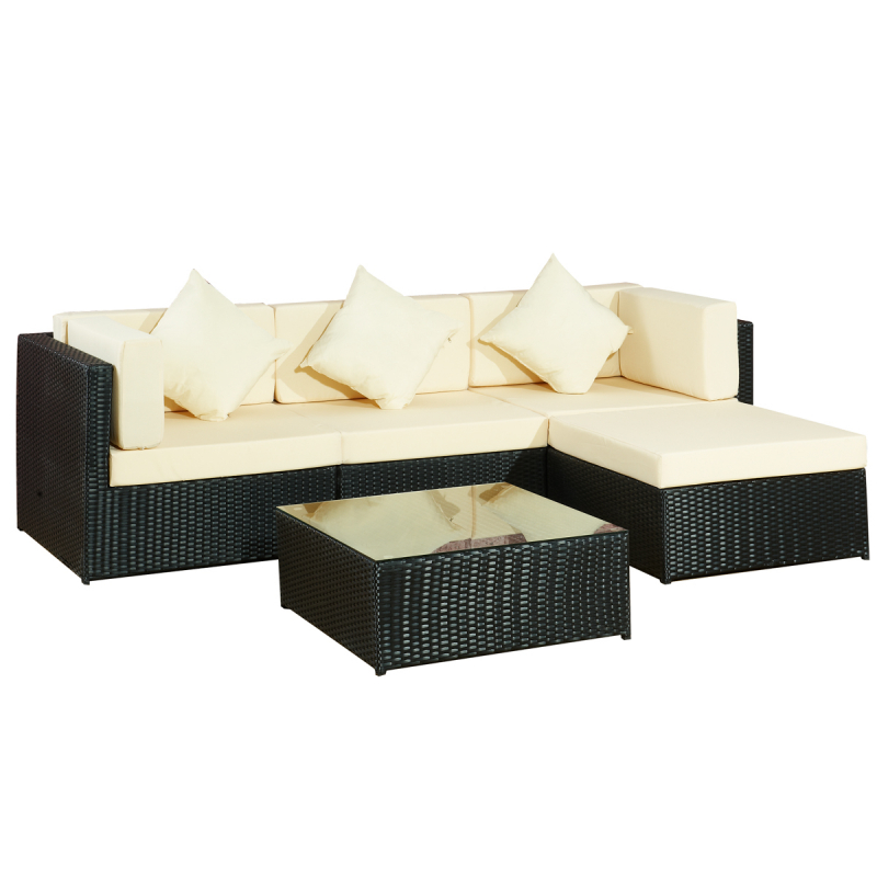 jet line gartenm bel gartenlounge sitzgarnitur loungem bel polyrattan. Black Bedroom Furniture Sets. Home Design Ideas