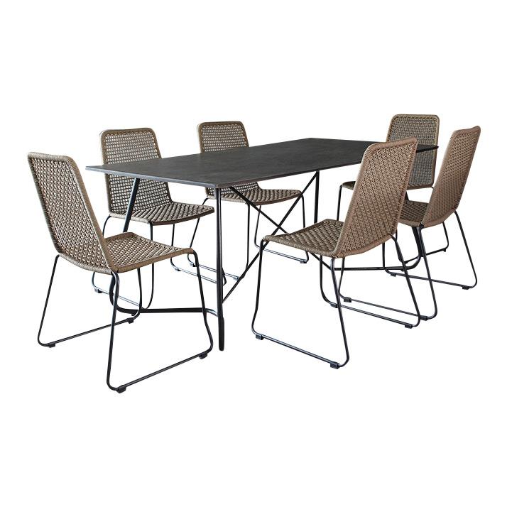 gartenm bel garten moebel dining set essgruppe gartenmoebel polyrattan und holz m bel. Black Bedroom Furniture Sets. Home Design Ideas