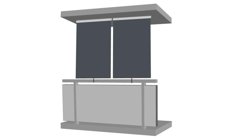 sichtschutzrollo sichtschutz balkon terrasse jet. Black Bedroom Furniture Sets. Home Design Ideas