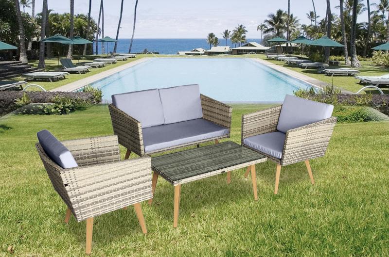 garten m bel lounge design cassis g nstig gartenmoebel polyrattan und holz m bel von jet line. Black Bedroom Furniture Sets. Home Design Ideas