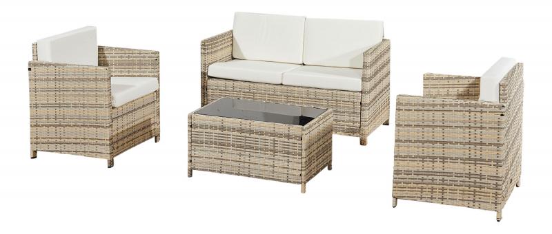 Gartenmöbel set lounge grau  garten möbel neu kaufen - Gartenmoebel - Polyrattan und Holz Möbel ...
