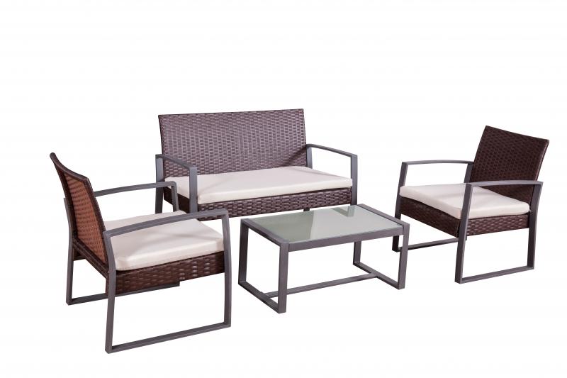 Garten moebel lounge sessel sofa tisch glasplatte - Gartenmoebel ...