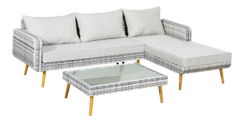 design lounge la paz neu Polyrattan grau - Gartenmoebel - Polyrattan ...