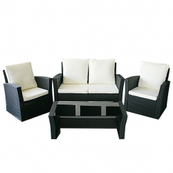 Garden furniture Lounge Set Le Havre in black
