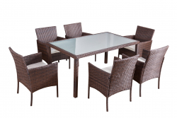 Garden furniture dining Set Mexiko brown