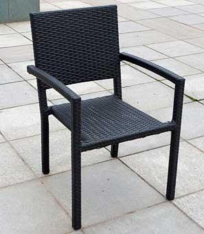 rattan stuhl stapelbar jet line gartenmoebel polyrattan und holz m bel. Black Bedroom Furniture Sets. Home Design Ideas