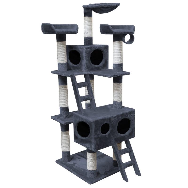 katzenkratzbaum 159 cm grau katzen baum herbertingen. Black Bedroom Furniture Sets. Home Design Ideas