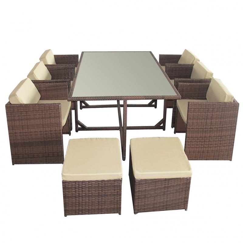 gartenm bel rattan essgruppe von jet line terasse jet line gartenmoebel polyrattan und holz. Black Bedroom Furniture Sets. Home Design Ideas