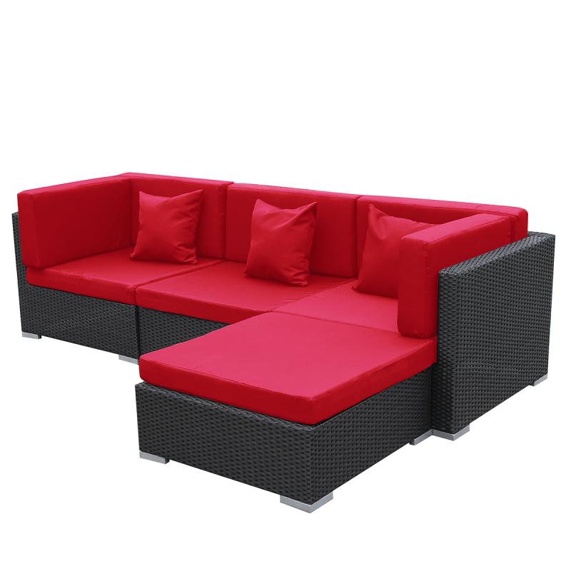 gartenmoebel polyrattan lounge garten. Black Bedroom Furniture Sets. Home Design Ideas