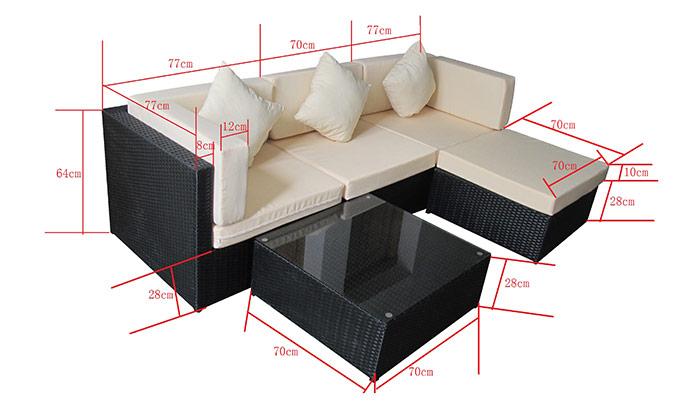 Rattanmöbel balkon grau  Garten Lounge Gruppe Bergen - Jet-Line Gartenmoebel - Polyrattan ...