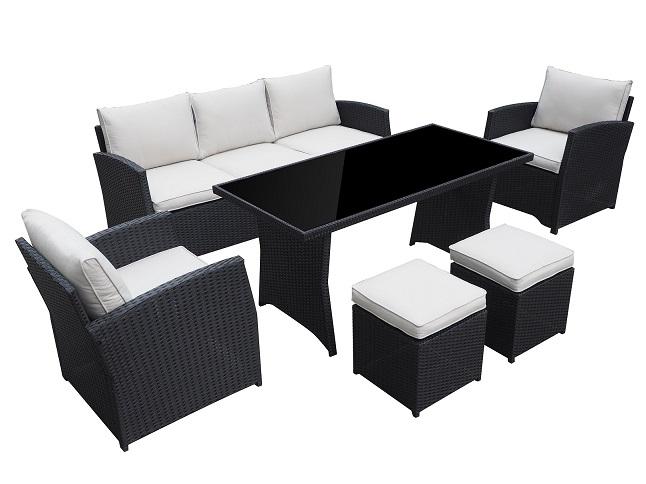 gartenset loungem bel gartenm bel garten jet line gartenmoebel polyrattan und holz m bel. Black Bedroom Furniture Sets. Home Design Ideas