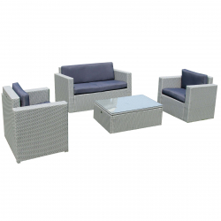 Garden furniture lounge set Cannes in grey