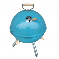 Mini BBQ grill in blue
