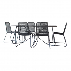 Gartenset Martinique in anthrazit Essgruppe Dining Set